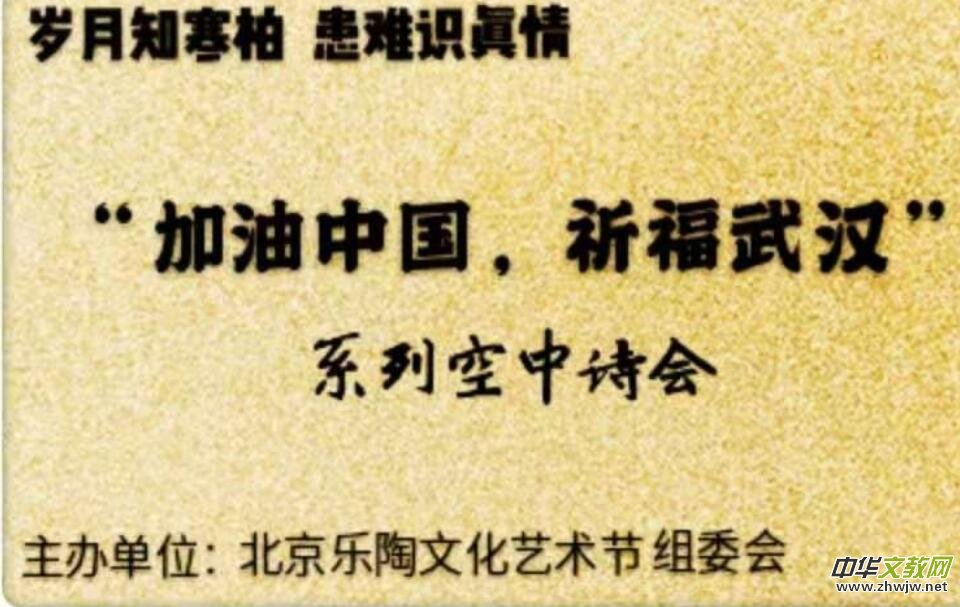 """""""加油中国,祈福武汉""""系列空中诗会为中国加油"""