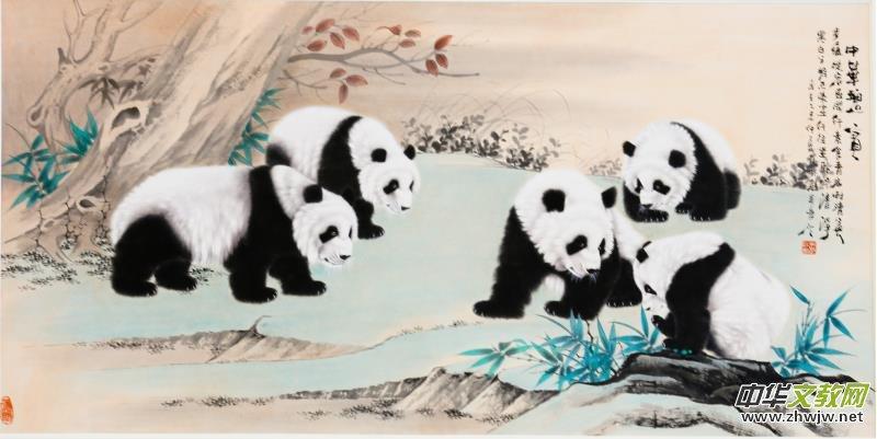 而作为熊猫工笔画法的深耕者,吴长江的熊猫新作彰显着怎样的画风