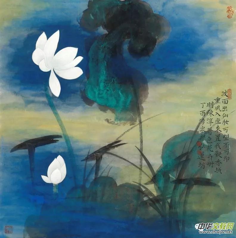 莲生妙相·清风徐来-林清泉佛像荷花作品全国巡展(上海)首展图片