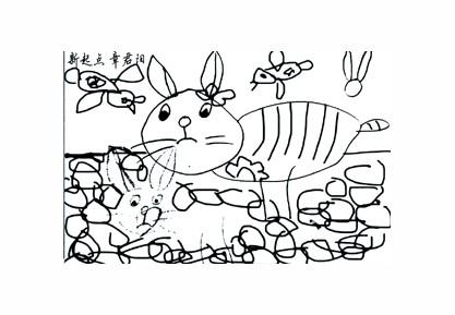 幼儿园春天下雨情景画的简笔画